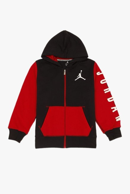 fe2f4efcac643c Buy Jordan Red   Black Solid Hoodie for Boys Clothing Online ...