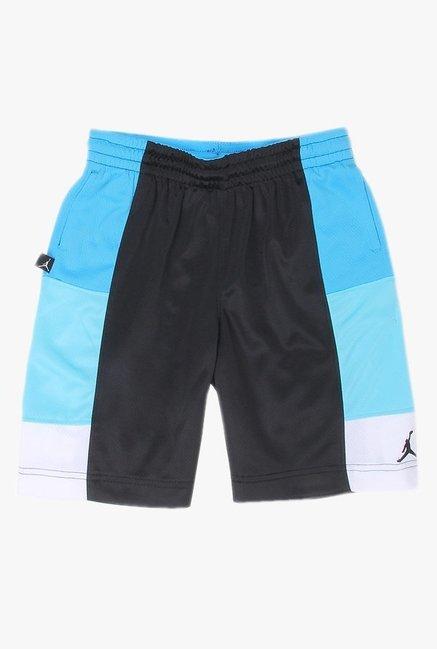 1dddb85d592ae3 Buy Jordan Black   Blue Solid Shorts for Boys Clothing Online   Tata ...