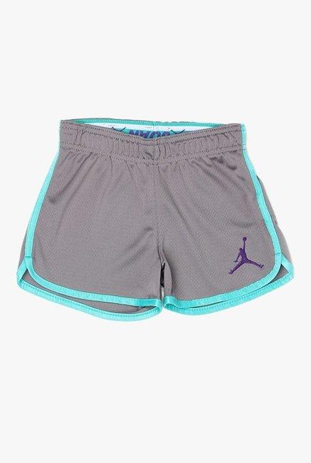 9b86ec14ce9579 Buy Jordan Grey Textured Shorts for Girls Clothing Online   Tata CLiQ