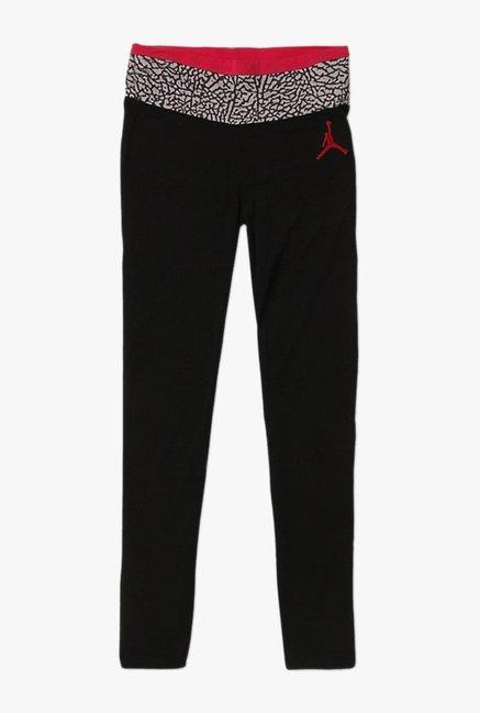 9972455c51c2f4 Buy Jordan Black Solid Leggings for Girls Clothing Online   Tata CLiQ