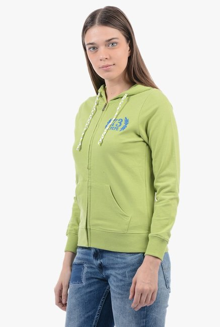 Pepe Jeans Green Regular Fit Hoodie