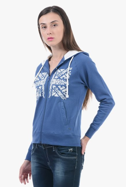 Pepe Jeans Navy Embroidered Hoodie