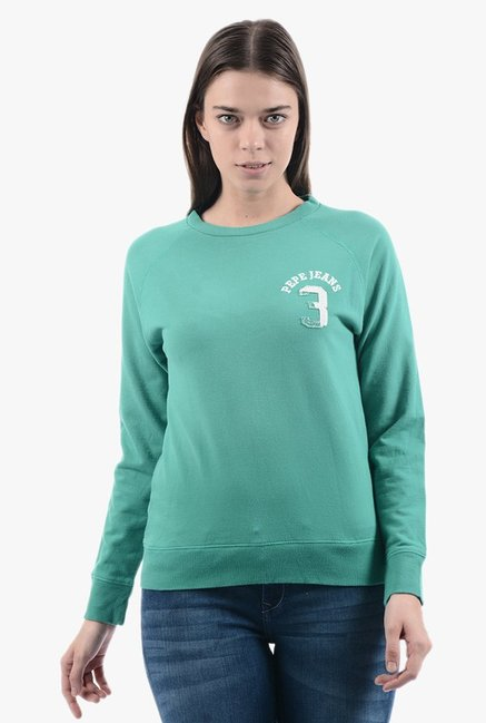 Pepe Jeans Green Regular Fit Sweatshirt