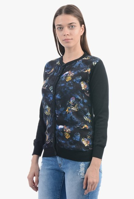 Pepe Jeans Black Printed Sweater