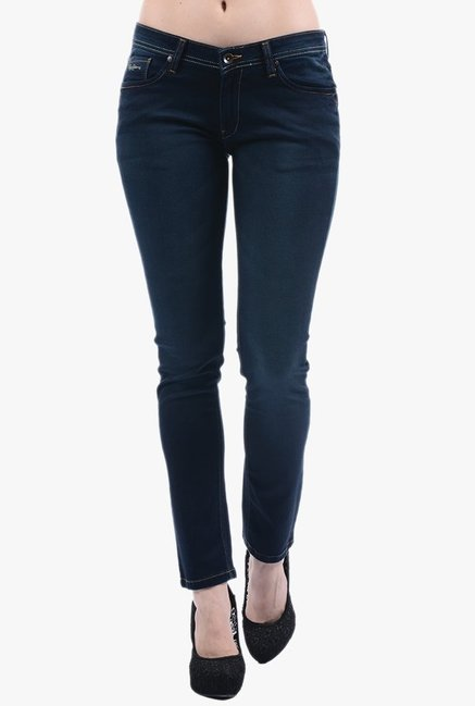 Pepe Jeans Navy Lightly Washed Jeans