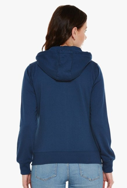 Cayman Teal Full Sleeves Hoodie