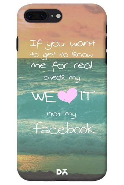Buy DailyObjects Love The Real Me Case for iPhone 8 Plus