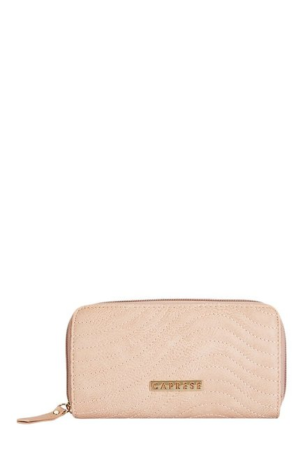 Caprese Austen Soft Pink Stitched Wallet
