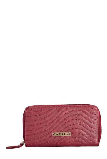 Caprese Austen Red Stitched Wallet