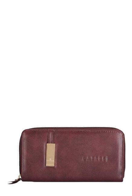 Caprese Teane Burgundy Textured Wallet