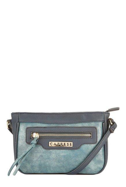 Caprese Andra Blue Distressed Sling Bag