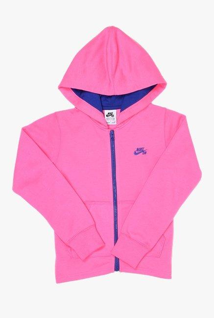 e58ef6da3473 Buy Nike Pink Solid Hoodie for Girls Clothing Online   Tata CLiQ