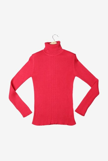 a34dd63e3d Buy Solly By Allen Solly Pink Solid Sweater for Girls Clothing Online    Tata CLiQ