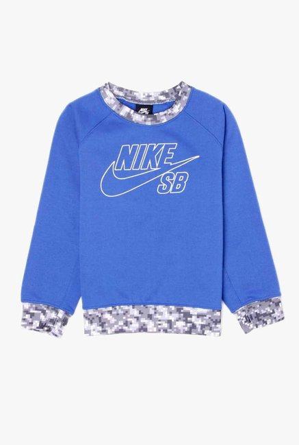 70e95cc688 Buy Nike Blue Printed Sweatshirt for Boys Clothing Online @ Tata CLiQ