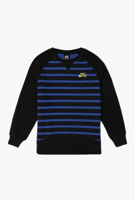 Buy Nike Black Striped Sweatshirt for Boys Clothing Online   Tata CLiQ 0eb5f07b69