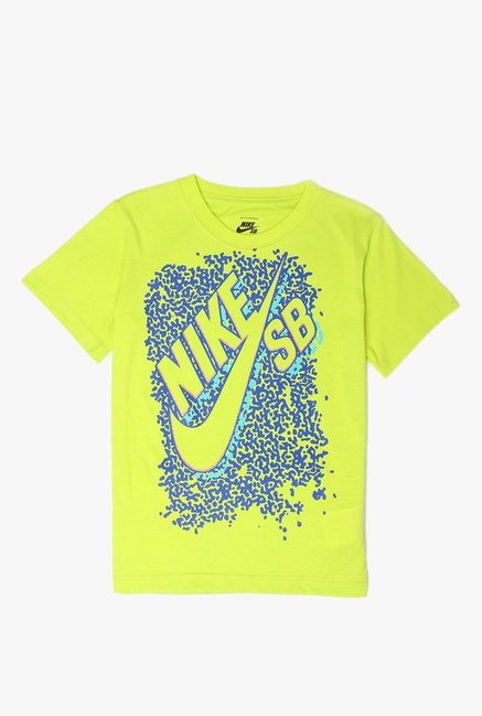 739af2de87c Buy Nike Neon Green Printed T-Shirt for Boys Clothing Online   Tata ...