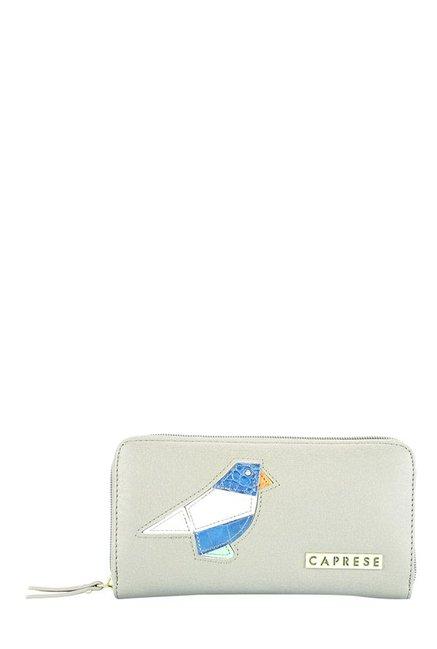 Caprese Birdie Grey Applique Wallet