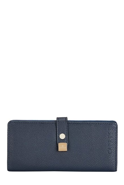 Caprese Julieta Navy Solid Bi-Fold Wallet