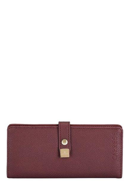 Caprese Julieta Plum Solid Bi-Fold Wallet