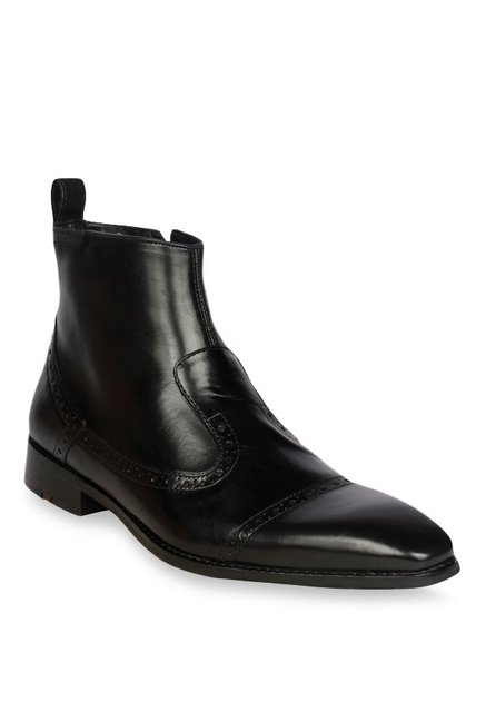 Buy Ruosh Black Formal Boots for Men at