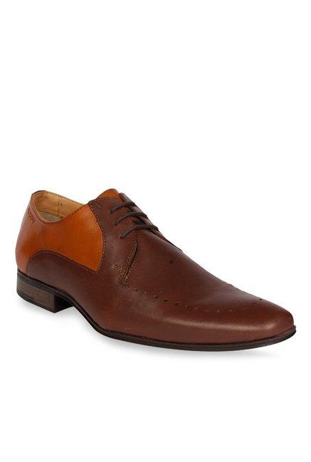 Buy Ruosh Dark Brown \u0026 Tan Derby Shoes