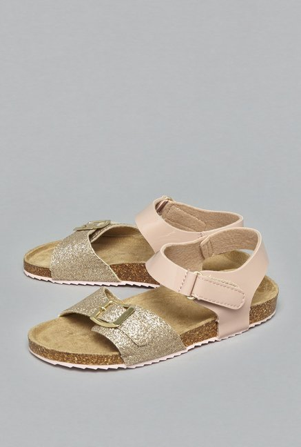 c4bafdd576e720 Buy Yellow by Westside Pink Glitter Sandals For Kids Online At Tata CLiQ