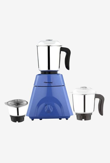 Butterfly Grand 500 Watts 3 Jar Mixer Grinder (Blue)