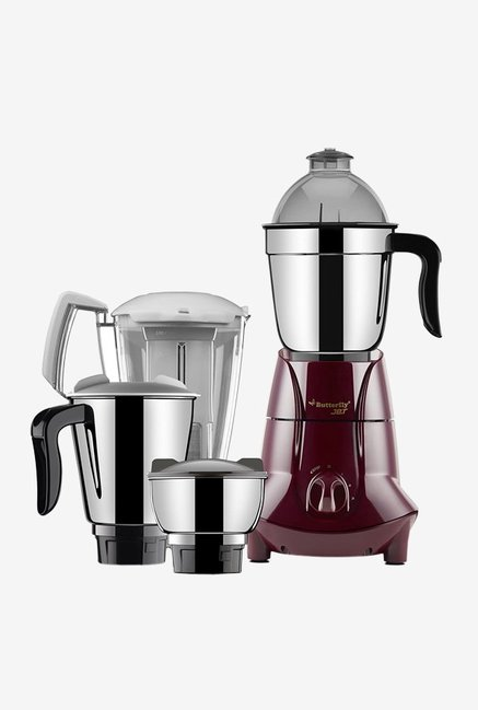 Butterfly Jet 750 Watts 4 Jar Mixer Grinder (Cherry)