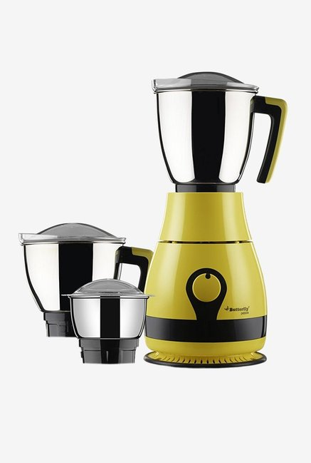 Butterfly Pebble 600 Watts 3 Jar Mixer Grinder (Yellow)