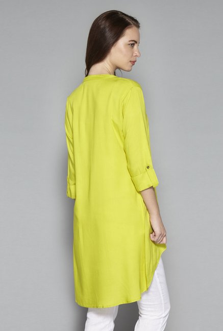 Utsa by Westside Lime Green Kurta
