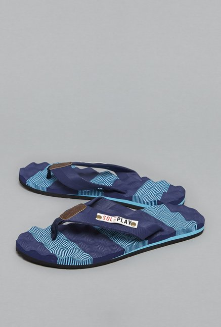 aefd0540610 Buy SOLEPLAY by Westside Navy Flip-Flops For Men Online At Tata CLiQ