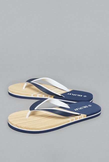 e1ad79ff203 Buy SOLEPLAY by Westside Navy Flip-Flops For Men Online At Tata ...