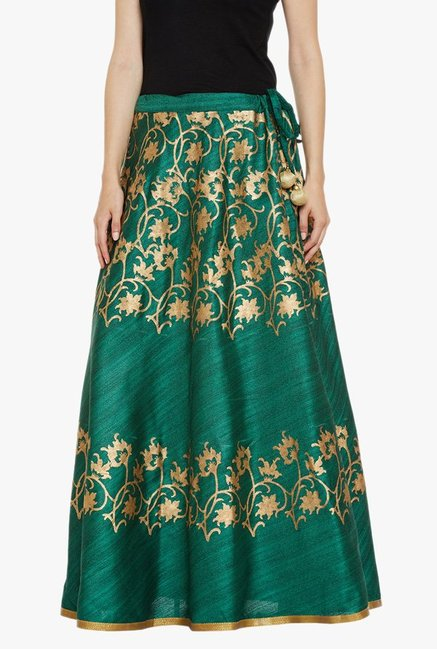 Studio Rasa Green Printed Skirt