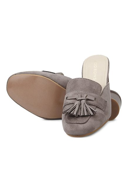 Addons Grey Mule Shoes
