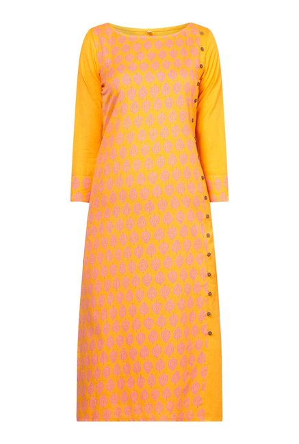 Zudio Bright Orange Kurta