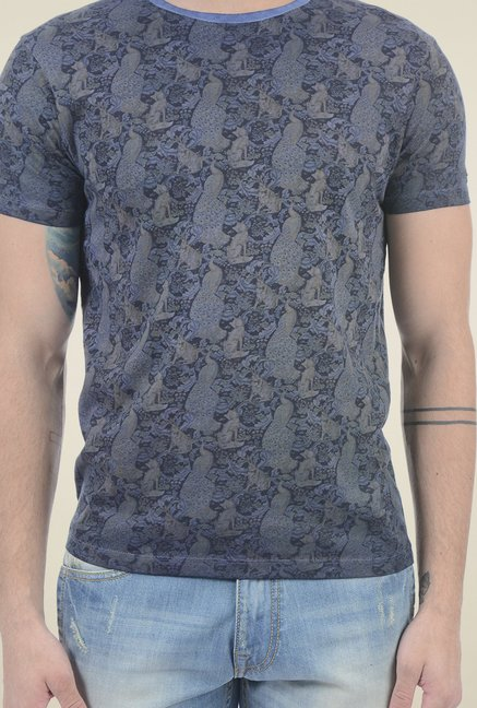 Pepe Jeans Navy Slim Fit Printed T-Shirt
