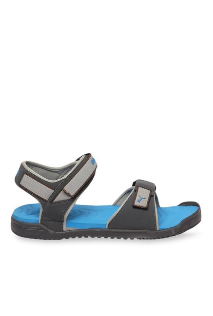 8502954f8e17 Buy Puma Prime 2 IDP Black   Light Grey Floater Sandals for Men at Best  Price   Tata CLiQ