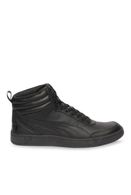 erkende merken op voet beelden van presenteren Buy Puma Rebound Street V2 L Black Ankle High Sneakers for ...