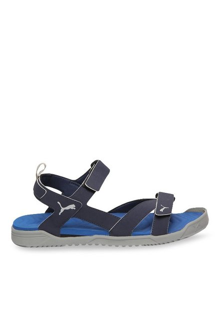 e2b8090bae1adc Buy Puma Prime IDP Peacoat   Team Royal Floater Sandals for Men at Best  Price   Tata CLiQ