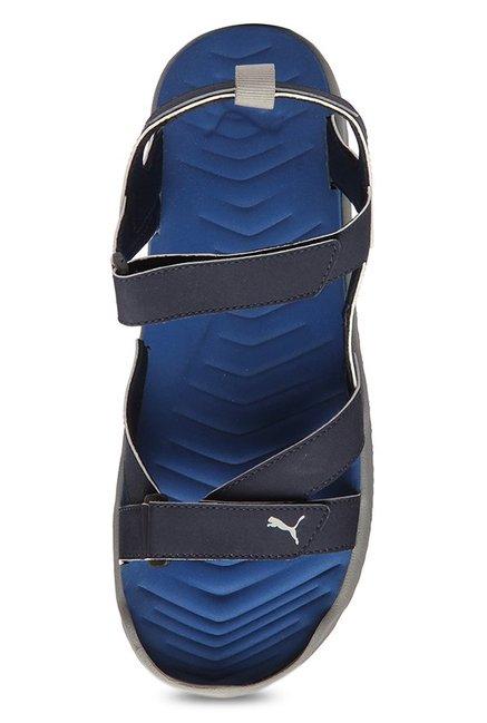 Buy Puma Prime IDP Peacoat   Team Royal Floater Sandals for Men at ... 665f5414897c