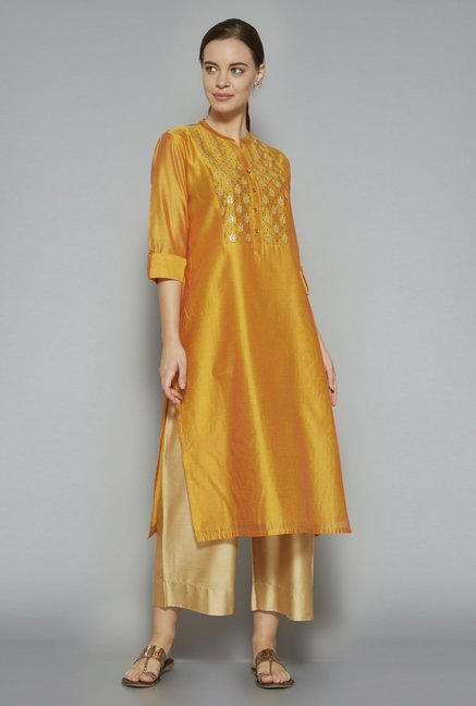 c78fd9d19 Buy Utsa by Westside Yellow Kurta for Women Online   Tata CLiQ