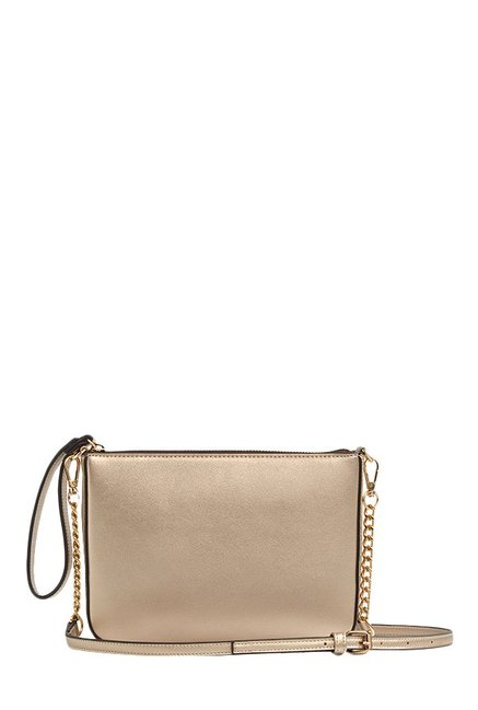 3cf42693b0b Buy Aldo Conroe Golden Solid Sling Bag For Women At Best Price @ Tata CLiQ
