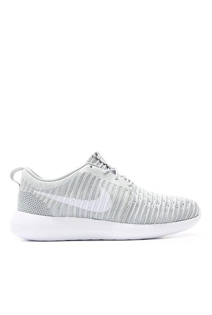 66dc24088ac7 Buy Nike Roshe Two Flyknit Light Grey Training Shoes for Men at Best Price    Tata CLiQ