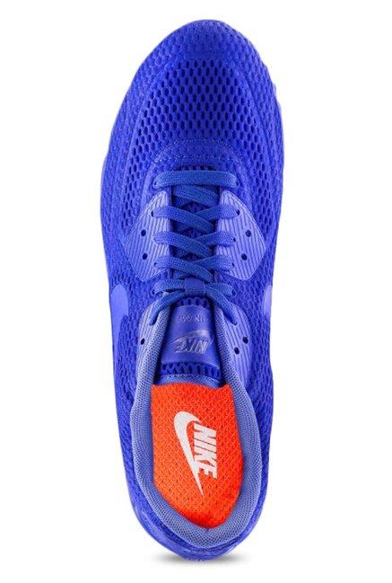 big sale 93606 3adf8 Nike Air Max 90 Ultra Breathe Blue Running Shoes