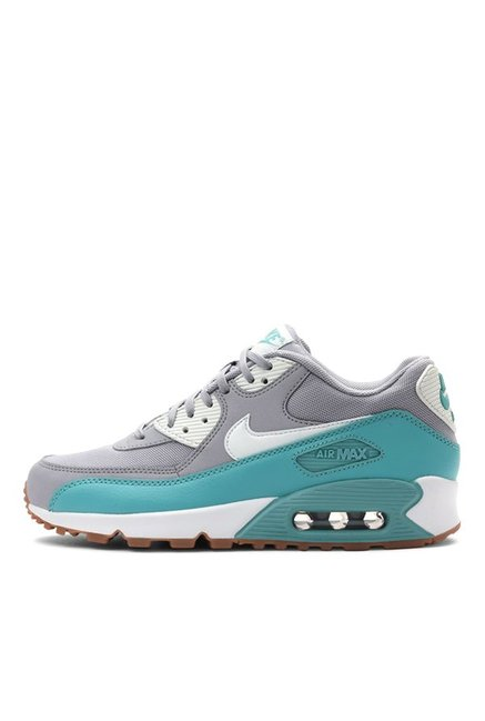 separation shoes 1b3e6 c85a0 Buy Nike Air Max 90 Essential Grey & Sea Green Running Shoes for Women at  Best Price @ Tata CLiQ