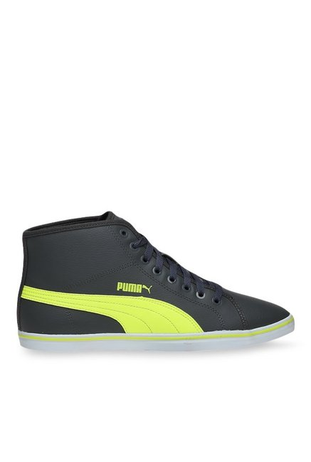 be7bd457fde Buy Puma Elsu V2 Mid SL IDP Grey   Yellow Ankle High Sneakers for Men at  Best Price   Tata CLiQ