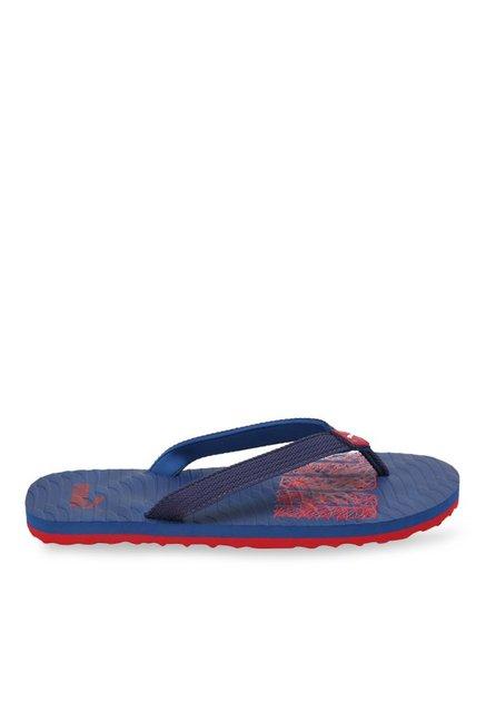 6b78ec81fa20 Buy Puma Miami Fashion II DP True Blue   Cherry Flip Flops for Men ...