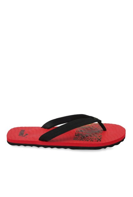 b6b7ba5aab4b Buy Puma Miami Fashion II DP Black   High Risk Red Flip Flops for Men at  Best Price   Tata CLiQ