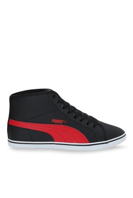 f7b715b0457 Buy Puma Elsu V2 Mid SL IDP Black   Red Ankle High Sneakers for Men at Best  Price   Tata CLiQ