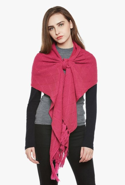 4a6b90add Buy Cayman Onion Pink Acrylic Wool Stole for Women Online   Tata CLiQ